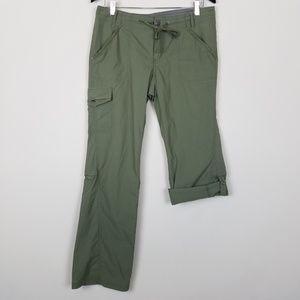 REI Green Roll Cuff Hiking Travel Pants A1411